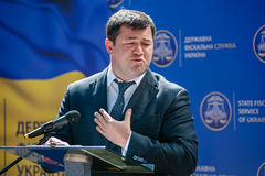 The head of the State Fiscal Service of Ukraine Royalty Free Stock Images