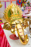Head statue of Ganesha. The Elephant headed god of luck and prosperity Stock Photography