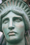 Head of the Statue of Liberty Stock Image