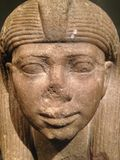 Head of a Statue of a Queen or a Princess as a Sphinx at Metropolitan Museum of Art. Royalty Free Stock Photos
