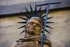 Head of a statue in Volterra, Tuscany, Italy Royalty Free Stock Images