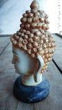 Head statybakgrund för Buddha Royaltyfri Bild