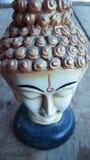 Head statybakgrund för Buddha Royaltyfria Bilder