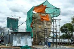 Head statyer för Buddha Fotografering för Bildbyråer