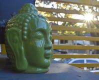 Head statyslut för Buddha upp Arkivfoton