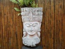 Head statyslut för Buddha upp buddha bildstaty Arkivfoto