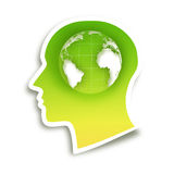 Head  sticker Stock Images