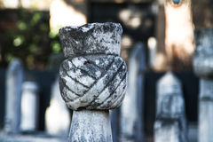 Head of Stone Tomb Royalty Free Stock Photography