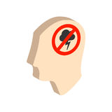 Head with storming cloud, stress concept symbol. Royalty Free Stock Image
