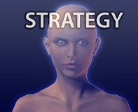 Head for strategy Stock Photo