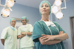Head Of Surgical Team With Surgeons Royalty Free Stock Image
