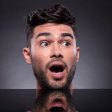 Head of surprised young man Royalty Free Stock Photography