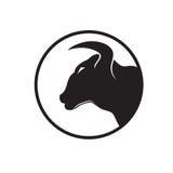 Head symbol för tjur Royaltyfria Bilder