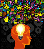 head symboler för barn Arkivbild