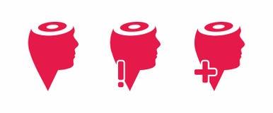 head symboler tänker Fotografering för Bildbyråer