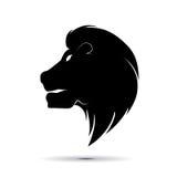 Head symbolvektor för lejon Arkivbilder