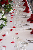 Head table Royalty Free Stock Photo