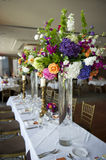Head table with florals. Image of the head table at a wedding with florals Stock Image