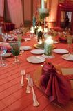 Head table at a wedding. Head table setting at a luxury wedding reception Stock Photography