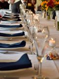 Head Table. Wedding party head table decorations Royalty Free Stock Photography
