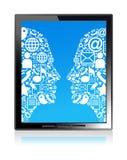 head tablet för kommunikation Royaltyfria Bilder
