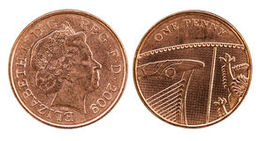 Head and tail of British Penny stock photography