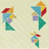 head tangram Arkivbilder