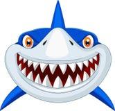 Head tecknad film för haj Fotografering för Bildbyråer