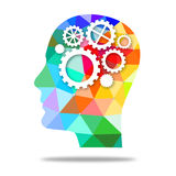 Head/ thinking concept. Computer-generated head/thinking concept - illustration Royalty Free Stock Photos