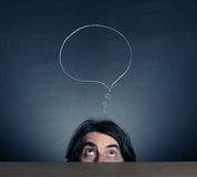The head is thinking person. Royalty Free Stock Photography
