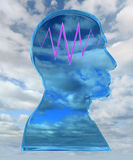 Head with thinking wave Stock Image