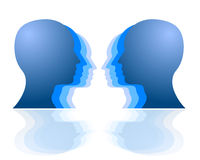 Head to head challenge Royalty Free Stock Photo
