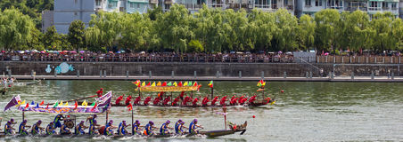Head to Head Dragon Boat Festival Race royalty free stock images