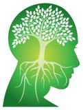 Head trädlogo royaltyfri illustrationer
