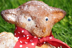 Head of traditional Easter hare - bisquit cake from Moravia Stock Image