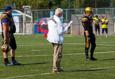 Head trainer of Spertans team Alexey Geets royalty free stock photos