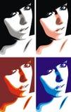 head trevligt för flicka stock illustrationer