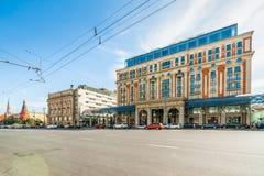 The head of Tverskaya street of Moscow Stock Photo