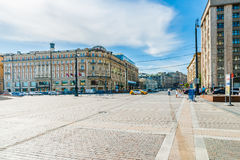 The head of Tverskaya street of Moscow Stock Images