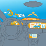 Head up display (HUD) and various display in car Royalty Free Stock Photography
