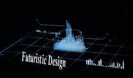 Head-up displays navigation elements of the city for the Internet and applications. Futuristic user interface. Virtual graphics. Royalty Free Stock Image
