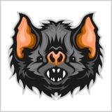 Head vampire bat. Stock Photography