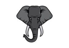 Head vektor för elefant Arkivbild