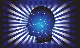 Head vektor för idé head human Meningsmakt Royaltyfri Foto