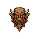 Head vektorillustration för bison arkivbild