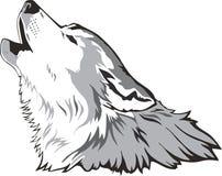 head vektorwolf stock illustrationer