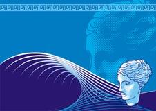 head venus för bakgrund vektor illustrationer
