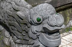 Head of vietnamese dragon near Hue royalty free stock image