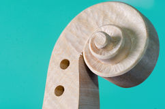 Head of violin and wood texture Stock Image