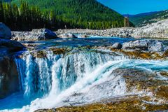 Head waters of Elbow Falls. Elbow Falls Provincial Recreation Area, Alberta, Canada Stock Photo